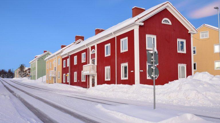 Casette scandinave a Kiruna